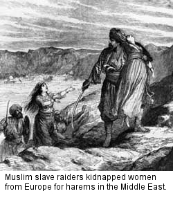 Arab Muslims white slave hunting