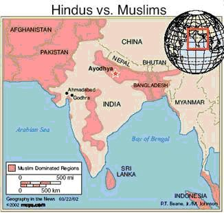 Indian region with high muslim growth rates