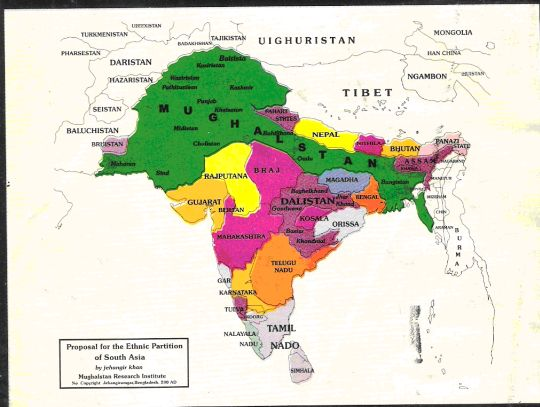 Intended Muslim partition of India