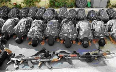 Muslim prayer after Jihad massacre