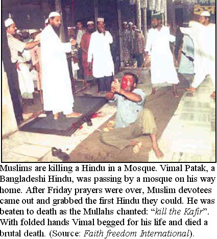 Banglaesh Muslim devotees kill hindu man