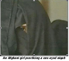 one-eyed Islamic veil
