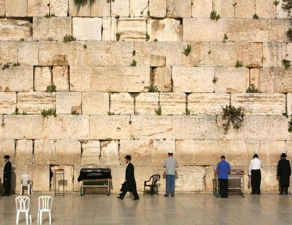 wailing wall of temple mount
