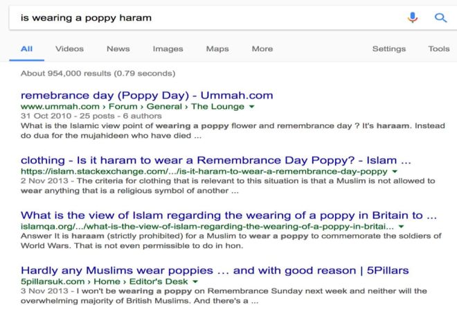 answers to is wearing poppy haram